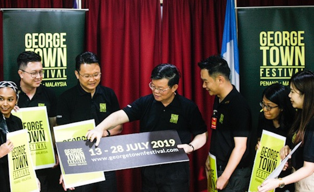 Penang Chief Minister Chow Kon Yeow launches the 2019 George Town Festival in George Town June 3, 2019. — Picture by Sayuti Zainudin