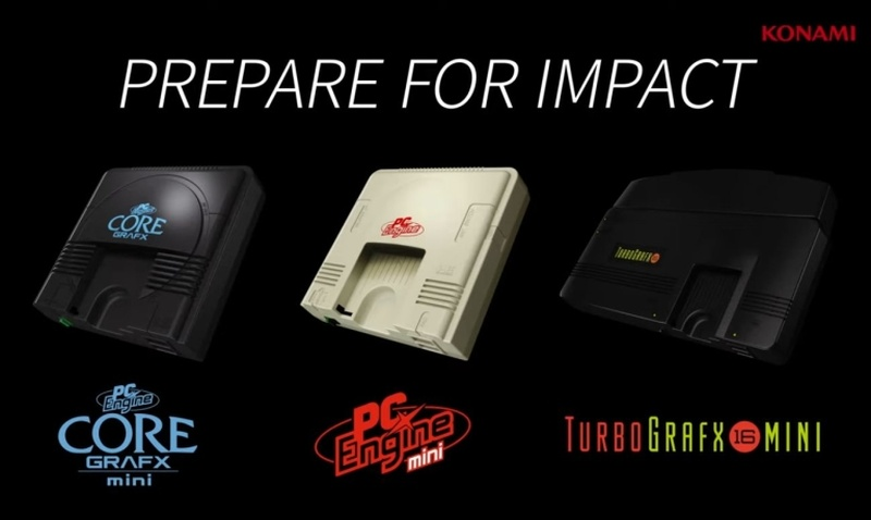 A debut trailer shows the PC Engine Core Grafx Mini, PC Engine Mini, and TurboGrafx-16 Mini side by side. ― AFP pic