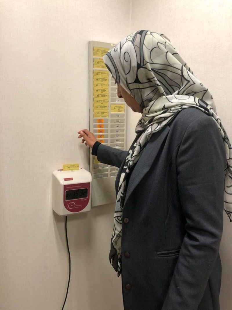 Latheefa clocks in at the Malaysian Anti-Corruption Commission headquarters in Putrajaya June 4, 2019. — Picture courtesy of the MACC
