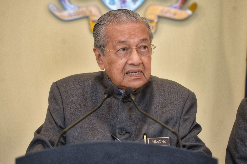 Dr Mahathir's intinerary includes delivering a talk titled 'Democracy in Malaysia and Southeast Asia' at the Cambridge Union on June 16, which is expected to attract well-known UK personalities and academicians as well as students from higher learning institutions. — Picture by Shafwan Zaidon