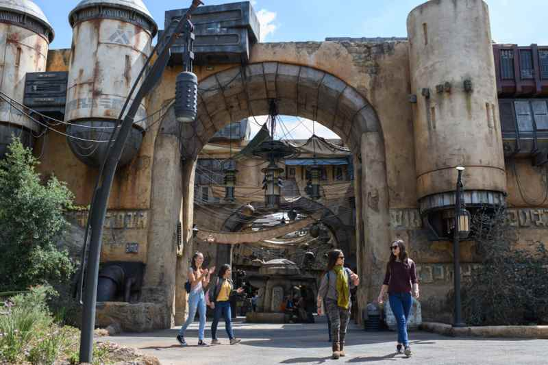 Black Spire Outpost marketplace at Star Wars: Galaxy's Edge at Disneyland Resort, a collection of merchant shops and stalls filled with authentic Star Wars creations. ― AFP pic