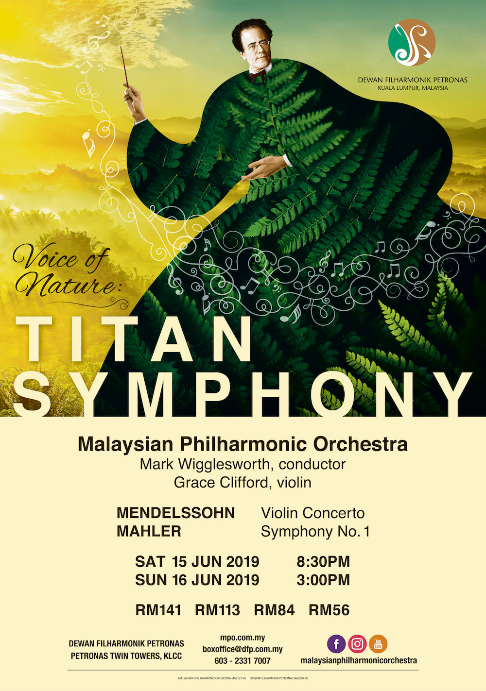 Malaysian Philharmonic Orchestra is set to present two contrasting classical gems in the 'Voice of Nature' concert next weekend. — Picture courtesy of Malaysian Philharmonic Orchestra