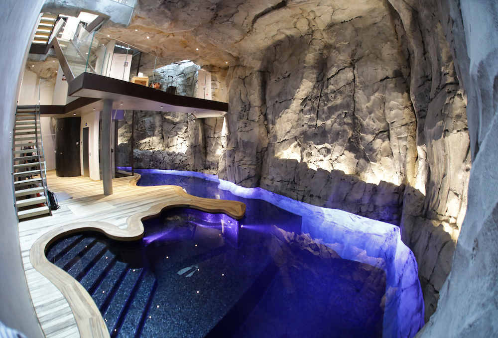 The swimming pool of the luxurious ecological Villa Troglodyte. — Reuters pic