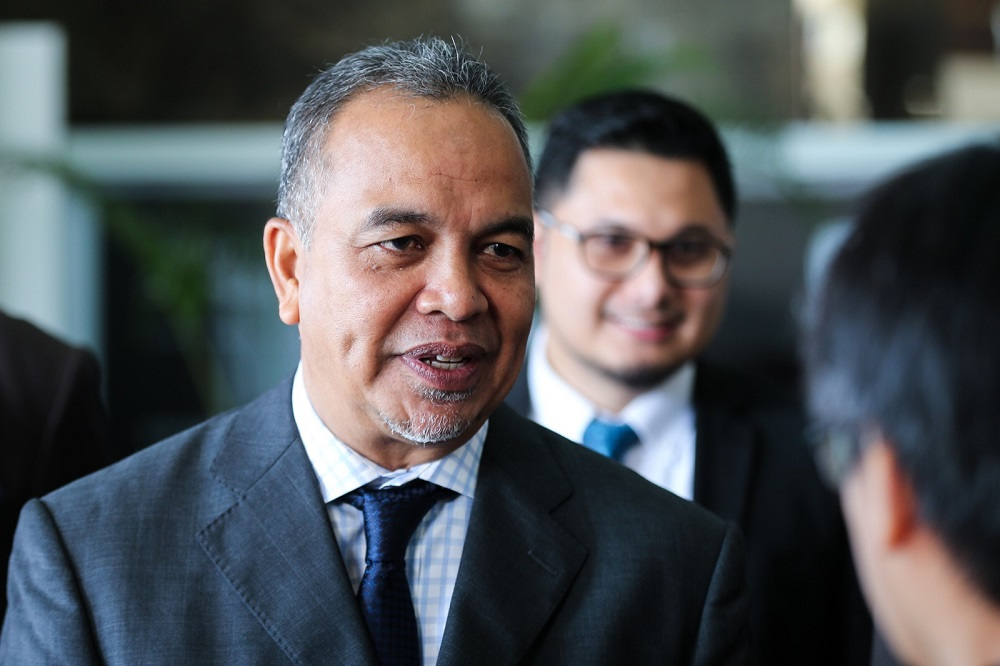 Deputy Finance Minister Datuk Amiruddin Hamzah speaks to reporters in Putrajaya July 26, 2018. — Picture by Ahmad Zamzahuri