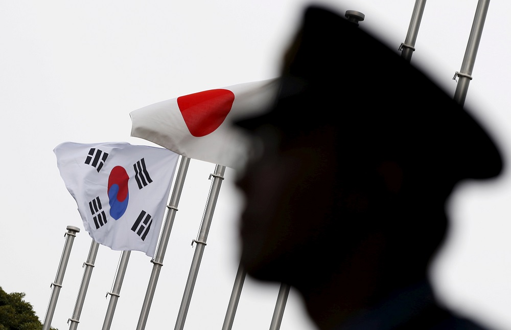 Japan imposed the curbs on exports to South Korea of three materials used to make semiconductors in July, threatening a pillar of the South Korean economy and the global supply chain of chips. — Reuters pic