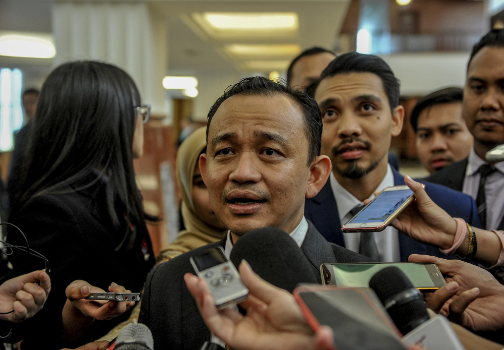 Education Minister Maszlee Malik speaks to media at Parliament in Kuala Lumpur July 1, 2019. — Picture by Firdaus Latif