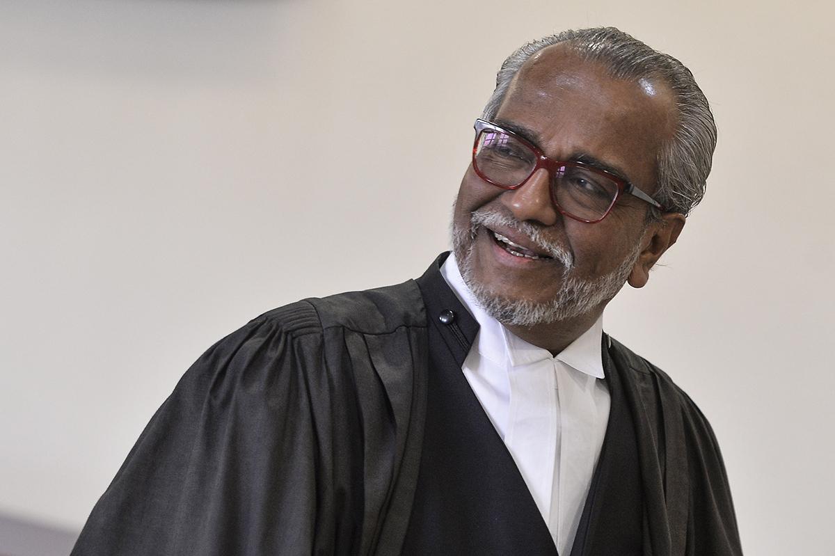Tan Sri Muhammad Shafee Abdullah at the Kuala Lumpur Courts Complex July 2, 2019. — Picture by Miera Zulyana