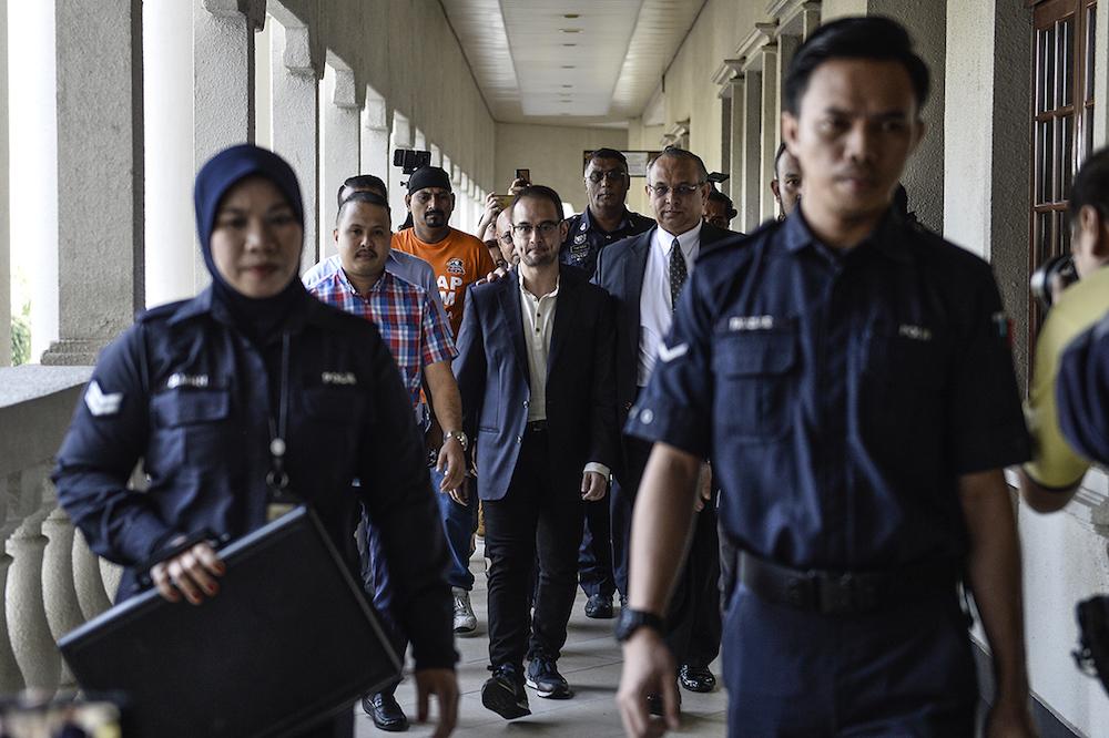 Riza Aziz is pictured at the Kuala Lumpur High Court July 4, 2019. — Picture by Miera Zulyana