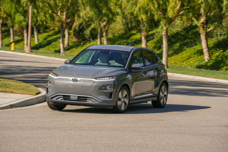 The 2019 Hyundai Kona Electric can travel 452 kilometres on a single charge. — Picture courtesy of Hyundai