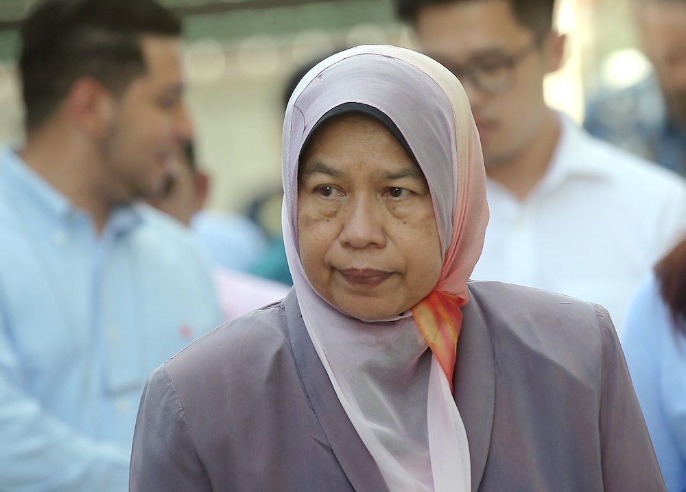 Housing and Local Government Minister Zuraida Kamaruddin said the allocation announced yesterday was good news in helping people to own a home. — Picture by Farhan Najib