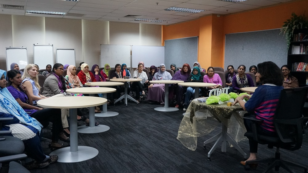 International Women's Day talk with the employees. — Picture courtesy of HSBC Electronic Data Processing Malaysia