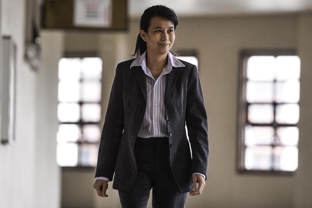 Witness Joanna Yu arrives at the Kuala Lumpur Courts Complex July 31, 2019. — Picture by Miera Zulyana