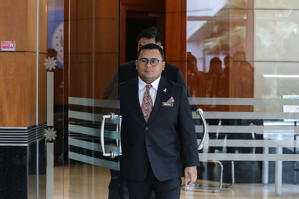 Selangor Mentri Besar Amirudin Shari is pictured after a Selangor State Assembly session in Shah Alam July 31, 2019. — Picture by Yusof Mat Isa