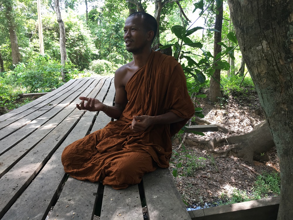 Khoeum Saray, a Buddhist monk who helps manage Monk's Community Forest, which is managed by Buddhist monks and villagers in Anlong Veng in Oddar Meanchey province in northwest Cambodia May 29, 2019. — Thomson Reuters Foundation pic