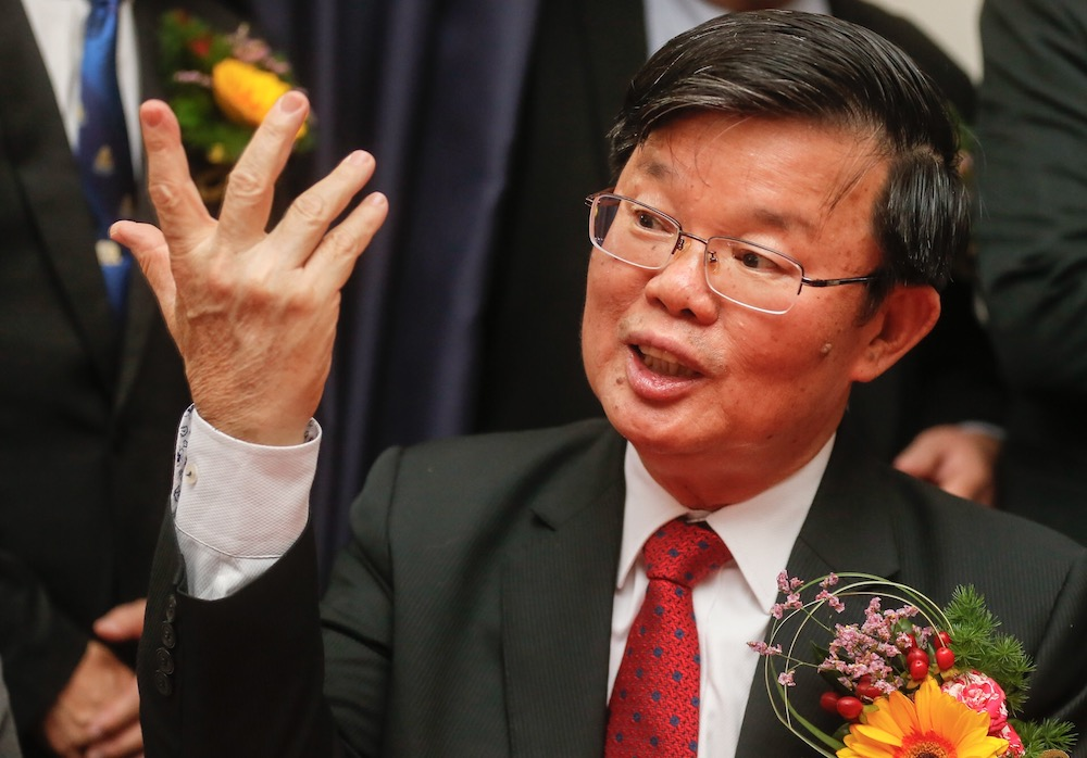 Chief Minister Chow Kon Yeow today said the public hearing would allow the public, stakeholders and third parties to scrutinise and examine the details of the LRT project, and in turn, give their views and feedback. — Picture by Sayuti Zainudin