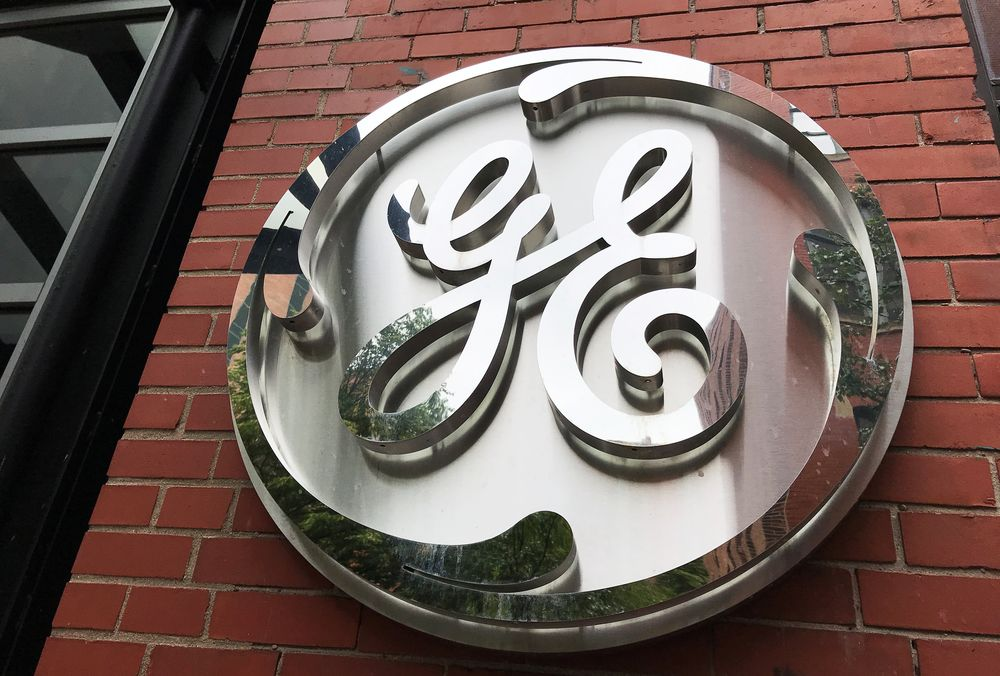 The General Electric Co logo is seen on the company's corporate headquarters building in Boston, Massachusetts, US, July 23, 2019. — Reuters pic