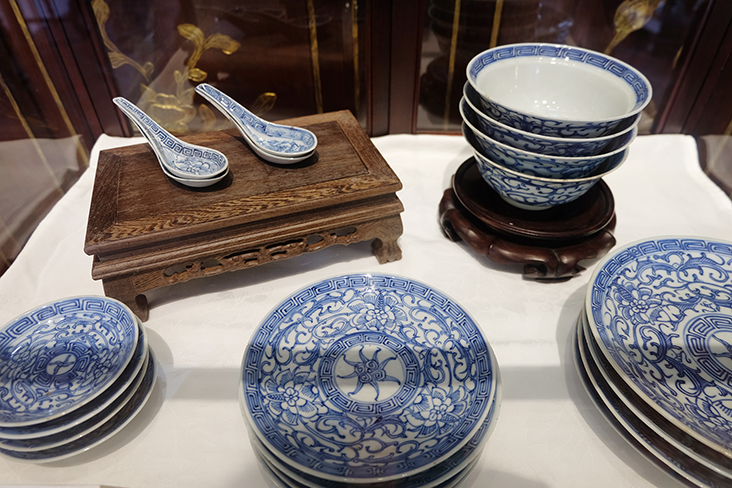 This set of blue and white porcelain from a bygone era would be a better investment than a modern dinner service.