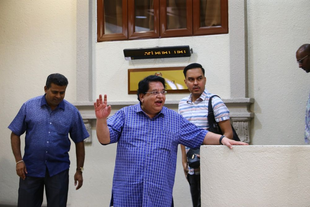 Former Federal Territories minister Datuk Seri Tengku Adnan Tengku Mansor is pictured at the Kuala Lumpur High Court Complex July 2, 2019. — Picture by Hari Anggara