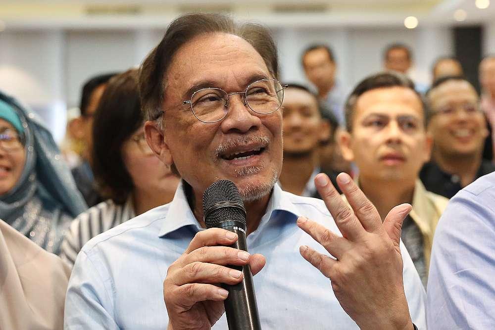 PKR president Datuk Seri Anwar Ibrahim speaks during the PKR retreat at the Lexis Hibiscus resort in Port Dickson July 21, 2019. — Picture by Mohd Yusof Mat Isa