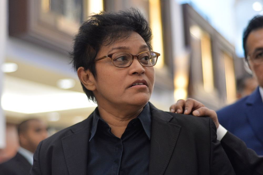 File picture shows Pengerang MP Datuk Seri Azalina Othman speaking to reporters at Parliament in Kuala Lumpur July 18, 2019. ― Picture by Mukhriz Hazim