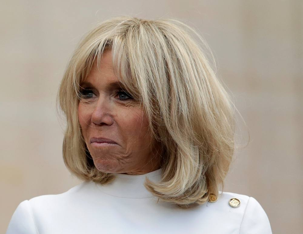 French First Lady Brigitte Macron at the presidential Elysee Palace in Paris June 21, 2019. — Lewis Joly/Pool pic via Reuters