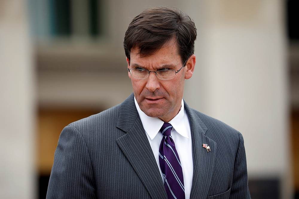 US Defence Secretary Mark Esper said that he had 'great faith' in the military justice system. — Reuters pic