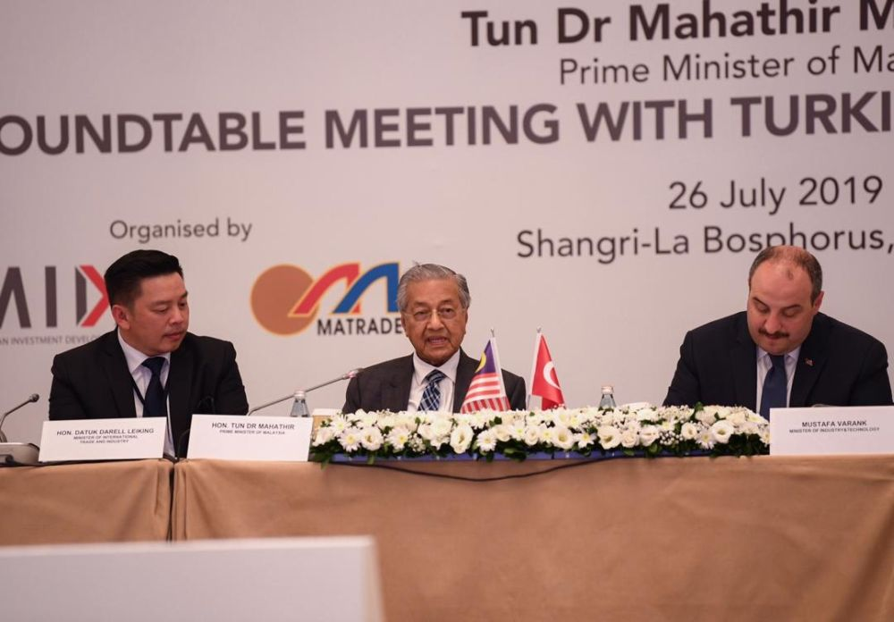 Prime Minister Tun Dr Mahathir Mohamad told the state-owned Turkish news agency that Malaysia has more to offer Turkey than palm oil products. — Reuters pic