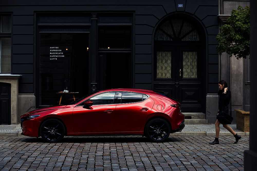 The Mazda3 liftback design concept presents a solid mass with a seductive appeal. — Bermaz Motor pic