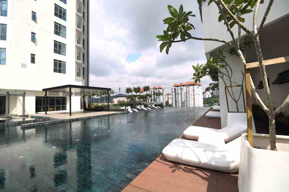 One of the stunning pools at Vivo Residences seen during the media tour of the integrated development.