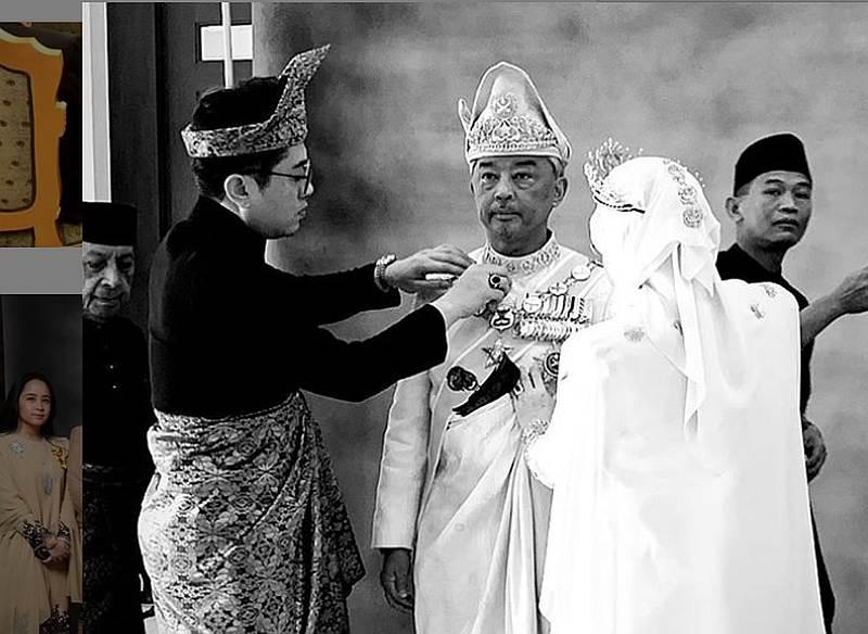 Datuk Rizalman Ibrahim (left) and Raja Permaisuri Agong Tunku Azizah Aminah Maimunah Iskandariah, who is the wife of Yang di-Pertuan Agong, have been working closely to design the coronation day costumes. — Picture via Instagram/Rizalman71