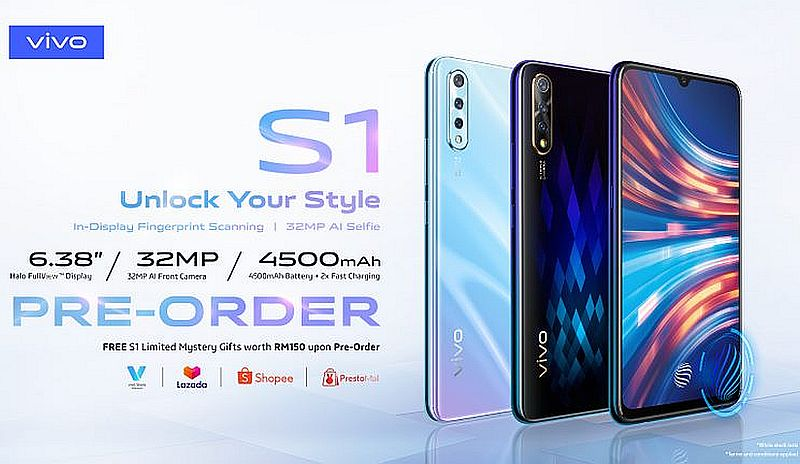 Early bird customers of the Vivo S1 can enjoy additional instant rebates or exclusive gifts worth up to RM149. — Image courtesy of SoyaCincau