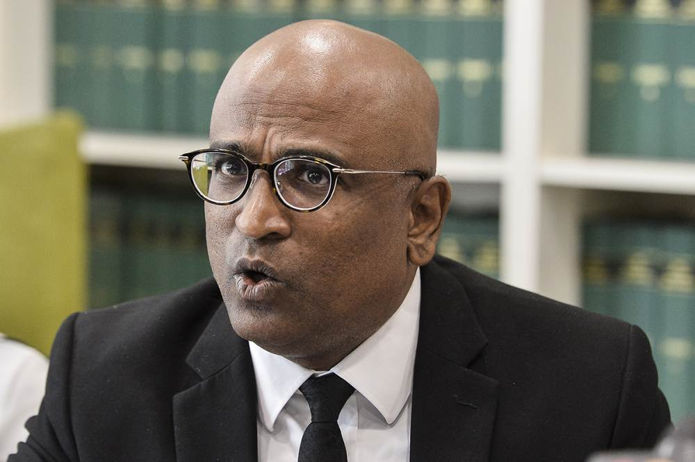 Lawyer M. Ravi speaks during a press conference in Petaling Jaya July 23, 2019. ― Picture by Miera Zulyana