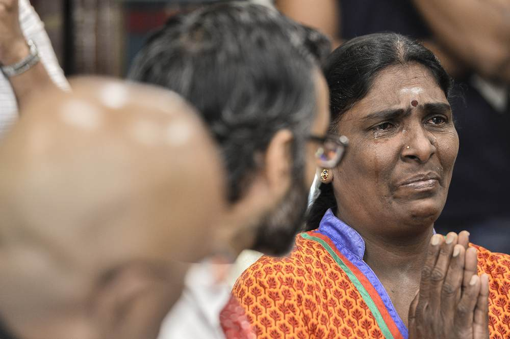 Mother of Nagaenthran K. Dharmalingam, Panchalai Supermaniam, speaks during a press conference in Petaling Jaya July 23, 2019. ― Picture by Miera Zulyana