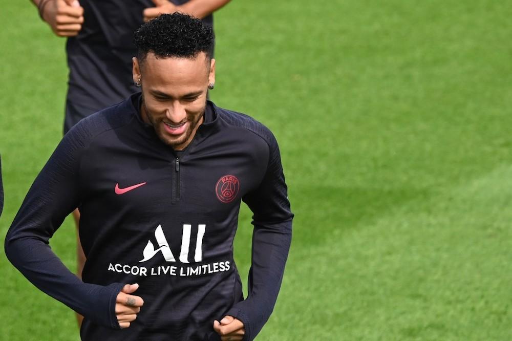 Paris Saint-Germain's Neymar attends a training session in Saint-Germain-en-Laye, near Paris, August 10, 2019. — AFP pic