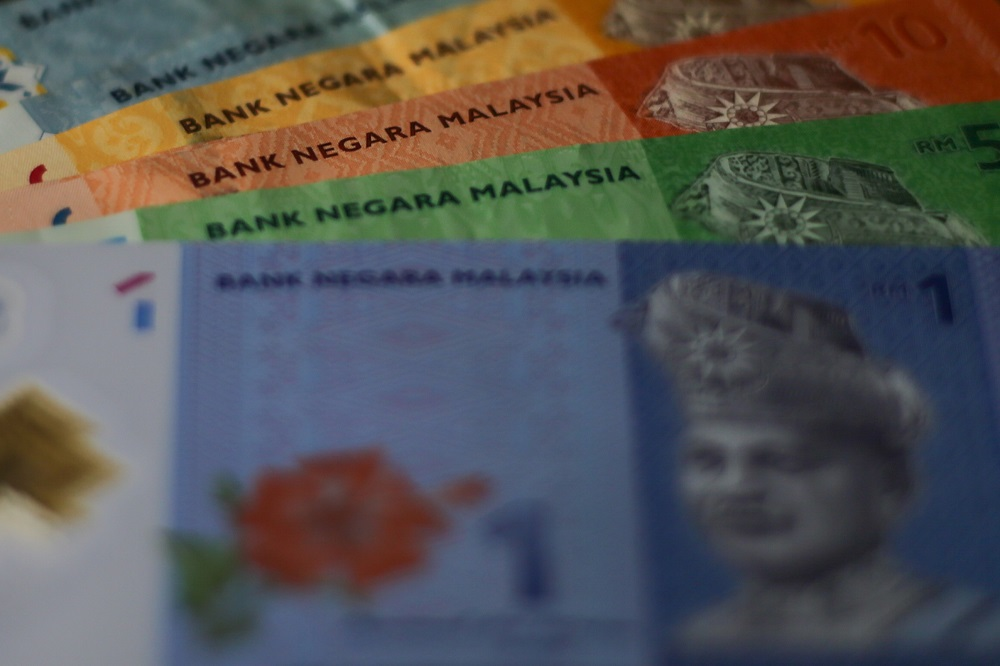 Ringgit notes are seen in this photo taken in Kuala Lumpur August 4, 2019. — Picture by Ahmad Zamzahuri
