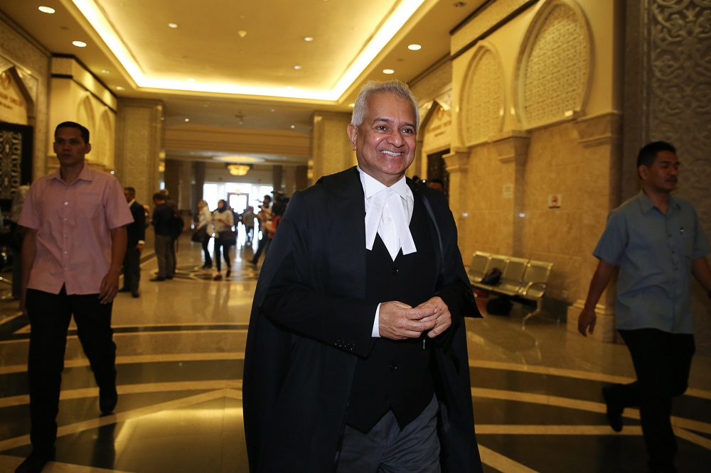 Attorney General Tommy Thomas is pictured at the Palace of Justice in Putrajaya August 5, 2019.