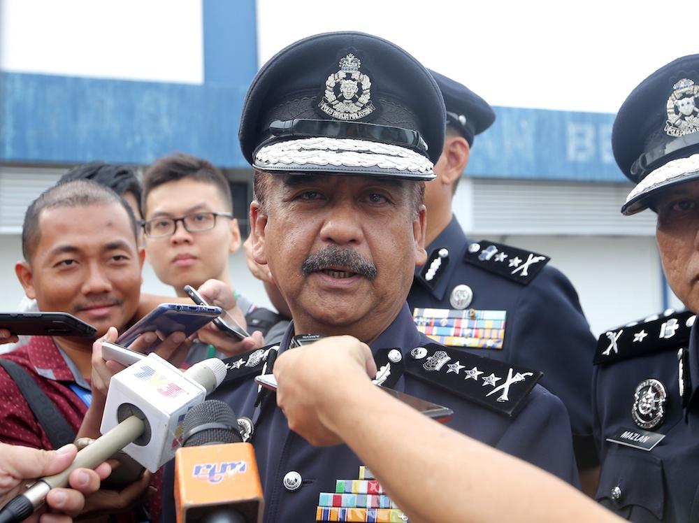 Perak police chief Datuk Razarudin Husain said seven individuals have given their statements since Friday. — Picture by Farhan Najib