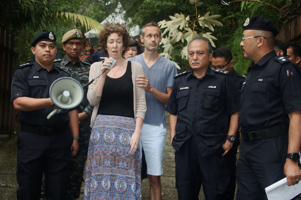 Nora Anne's family continue to doubt the theory that Nora Anne had woken up at night by herself, left the resort villa for a walk and got lost in the jungle. — Picture courtesy of Malaysian police source