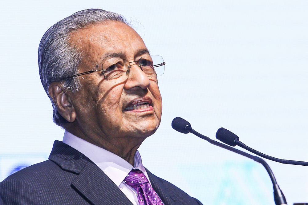 Prime Minister Tun Dr Mahathir Mohamad speaks during the launch of the 62nd International Statistical Institute World Statistics Congress 2019 (ISI WSC 2019) at Kuala Lumpur Convention Centre August 18, 2019. — Picture by Hari Anggara