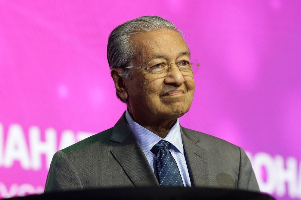 Prime Minister Tun Dr Mahathir Mohamad speaks during the World Tourism Conference 2019 in Kuala Lumpur August 26, 2019. — Picture by Ahmad Zamzahuri