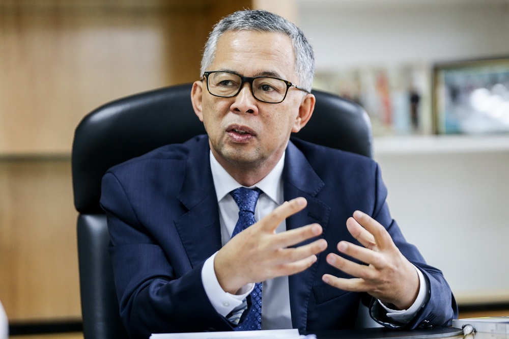 Suhakam chairman Tan Sri Othman Hashim speaks to Malay Mail at his office in Kuala Lumpur August 27, 2019. — Picture by Ahmad Zamzahuri