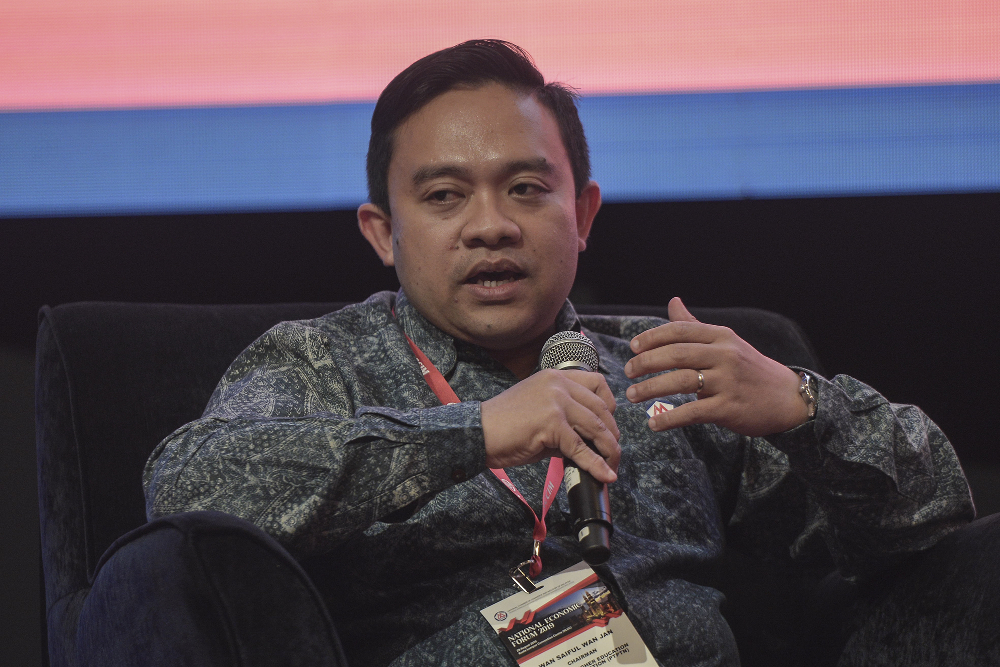 He said Wan Saiful said Muhyiddin remained focused on listening to the needs of the people. — Picture by Shafwan Zaidon