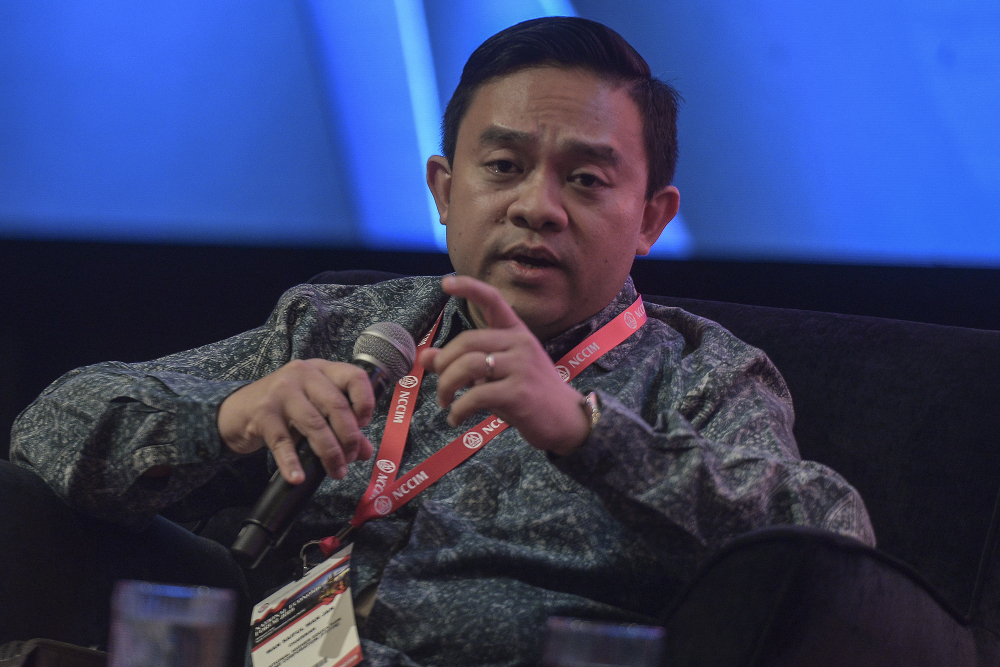 Bersatu information chief Wan Saiful Wan Jan today confirmed that the minister in the Prime Minister's Department in charge of economic affairs was at the January 6 supreme council meeting. — Picture by Shafwan Zaidon