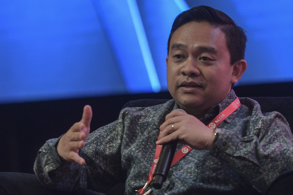 Bersatu information chief Wan Saiful Wan Jan said the Emergency proclamation by the Agong today represents His Majesty's concern about the health crisis. — Picture by Shafwan Zaidon