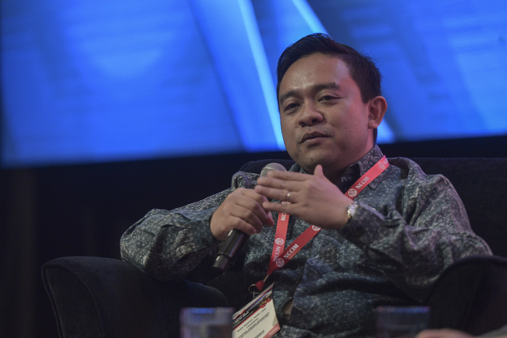 National Higher Education Fund Corporation (PTPTN) chairman Wan Saiful Wan Jan speaks during the National Economic Forum 2019 at Kuala Lumpur Convention Centre in Kuala Lumpur August 29, 2019. — Picture by Shafwan Zaidon