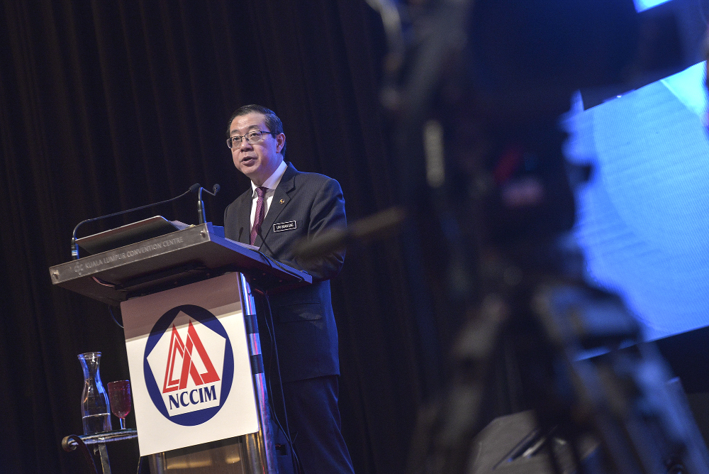 Finance Minister Lim Guan Eng speaks during the National Economic Forum 2019 at Kuala Lumpur Convention Centre in Kuala Lumpur August 29, 2019. — Picture by Shafwan Zaidon