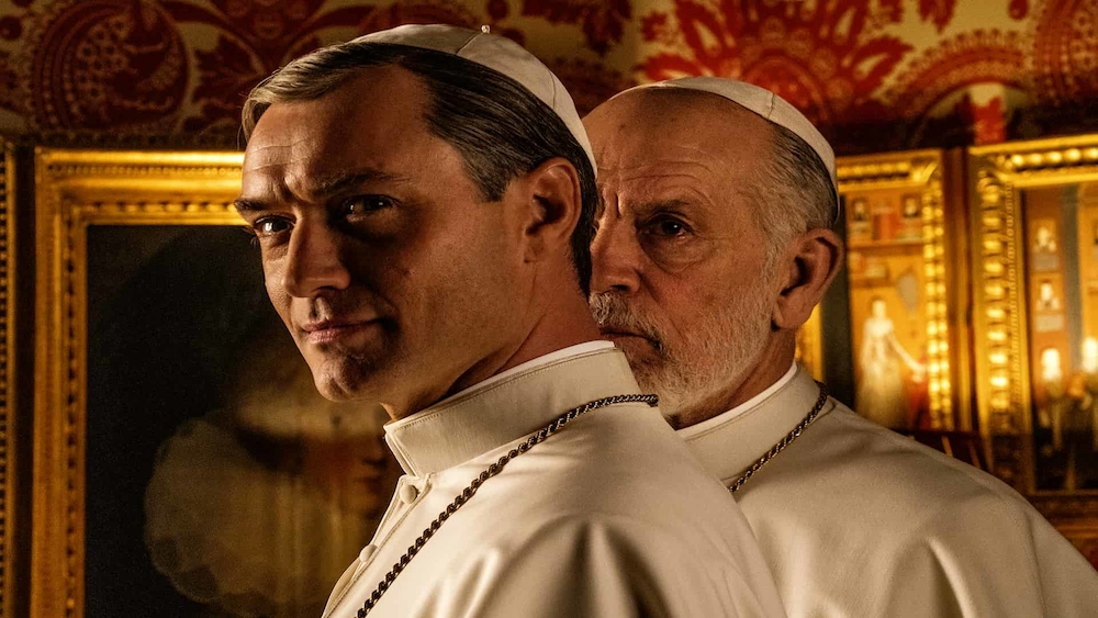 'The New Pope' stars Jude Law and John Malkovich as competing pontiffs. — Picture courtesy of Sky