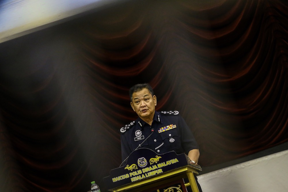 IGP Datuk Seri Abdul Hamid Bador has accused Opposition parties for attempting to destabilise the Pakatan Harapan government, amid a rise in  as racial and religious tensions in Malaysia. — Picture by Hari Anggara