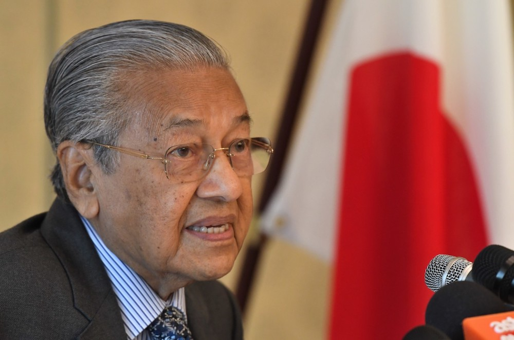 Prime Minister Tun Dr Mahathir Mohamad delivers a speech at the Kyushu-Asia Institute of Leadership (KAIL) in Fukuoka August 8, 2019. — Bernama pic