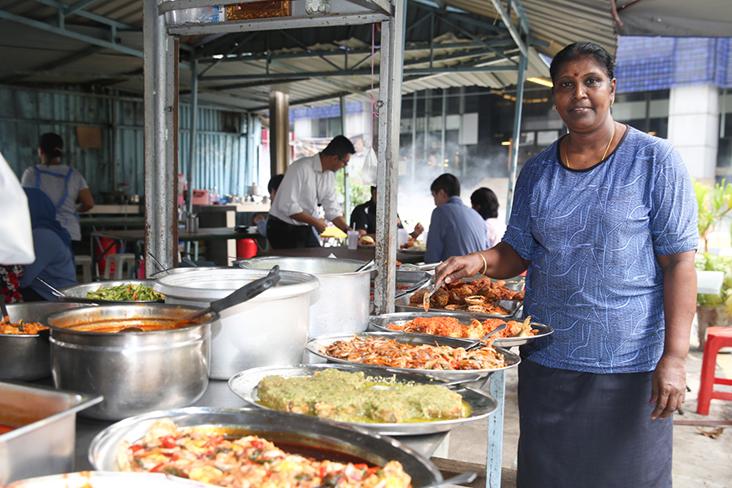 Ambiga Saminathan runs this stall at the crossroad of Lorong Ceylon and Jalan Mesui — Pictures by Choo Choy May and Lee Khang Yi